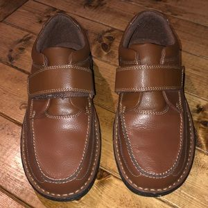 Dr. Scholl's Brown Leather Velcro Slip On Loafer